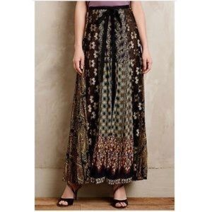 Byron Lars Petal Patch Maxi Skirt